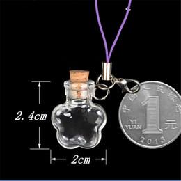 Wholesale Covering Chain Necklace Wholesale - Wholesale Mini Glass Bottles Flower Key Pendants Bottles With Chains Lobster Clasp For Phone Bracelets Necklace 2016 New 10pcs