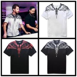 Wholesale Wing T Shirt Xl - Marcelo Burlon T Shirts Men Women Italy County Of Milan Feather Wings MB T-shirt RODEO MAGAZINE Tee Marcelo Burlon T Shirts