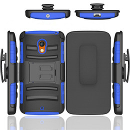 Wholesale Play Wallets - Hybrid Robot Holster Combo Case with Stand Shockproof Customized Case Cover For Motorola Moto E3 G2 G3 X2 E 2nd Xphone Z Play Force Droid
