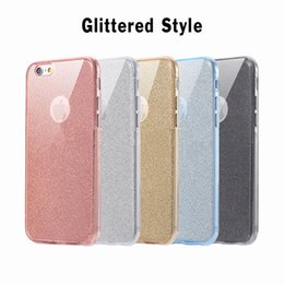 Wholesale Cover Iphone Full Glitter - 360 Degree 100% Full Body Front Back Glitter Bling Shining Flexible Soft TPU Gel Transparet Clear Case Cover For iPhone 8 7 Plus 6 6S