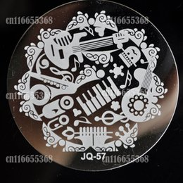 Wholesale Nails Music - Wholesale- Metal Nail Art Image Stamp Stamping Plates Manicure Template Seal Stencil All kinds of Musical instrument Music Party JQ57
