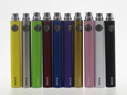 Wholesale cigarette voltage adjustable - EVOD Battery Cheapest EVOD 650mAh 900mAh 1100mAh E Cigarette Batteries E-cig Batteries E Cigarette Variable Voltage 3.3V 3.7V 4.2V