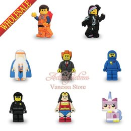 Wholesale Super Heros Action Figures Set - Suit set 39 styles Super heros The legos movie PVC Pin badges brooches clothes bags decoration New pack Action figures Gifts
