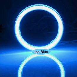 Wholesale Led Atv Headlight - 2PCS Waterproof LED Fog Light Ice Blue Halo Angel Eyes Rings COB Xenon White Blue 12V SUV ATV Off Road Fog Headlight Lamp