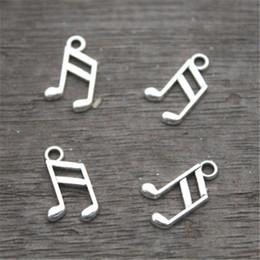 Wholesale Music Pendants Wholesale - 60pcs-- Music note Charms, Antique Tibetan Silver Tone Treble Clef charm pendants, musical charm 8x14mm