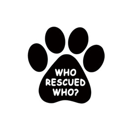 Wholesale Dog Vinyl Wall Decals - Who Rescued Who Vinyl Decal Sticker Window Wall Bumper Animal Adopt Dog Cat Paw Car Accessories Jdm