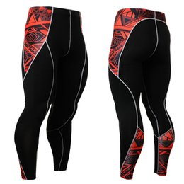 Wholesale Thin Tight Spandex - Wholesale- Mens compression tights mens spandex tights cotton thin long johns Exercise Quick-Drying Trousers