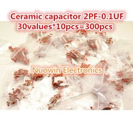 Wholesale Electronic Components Kits - Wholesale-Free shipping Ceramic capacitor 2PF-0.1UF 30 values*10pcs=300pcs Electronic Components Package ceramic capacitor Assorted Kit
