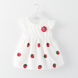 Wholesale Dress Strawberry Baby - 2017 summer new strawberry pattern 0-3 year old baby dress dress children's dress,Princess dress,Made of: Cotton