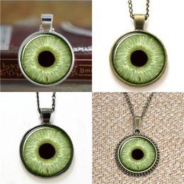Wholesale Evil Eye Green - 10pcs Green Eye Third Eye Jewelry Evil Eye Pendant Necklace keyring bookmark cufflink earring bracelet