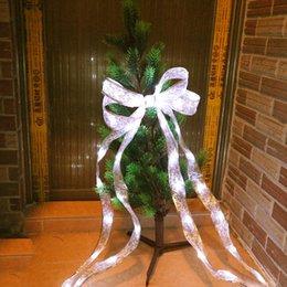 40Leds Ribbon Led String Albero di Natale in pizzo Patry trendy Cloth Decor 4M 4 colori per Party Gift Bow Box Fairy luce notturna da arco del nastro del panno fornitori