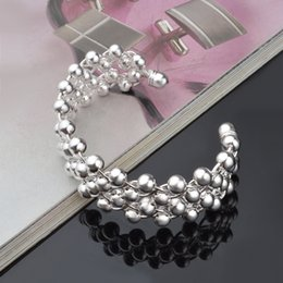 Wholesale Wholesale Price Grapes - High quality competitive price wholesale 925 sterling silver 2017 New style open popular grape Bracelet Free ship.