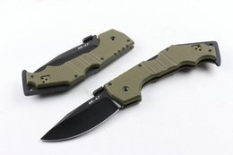 Argentina Nuevo Cold Steel AK47 G10 Mango 5Cr15MOV Cuchillo plegable de la lámina EDC bolsillo que acampa navajas tácticas Envío gratis Suministro