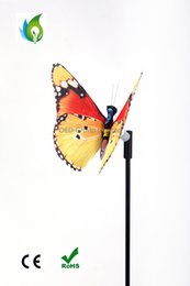 Wholesale Led Solar Butterfly Lights - Outdoor Garden Lawn Lamps Colorful Solar Butterfly LED Light for Home Garden Yard Holiday Xmas Wedding Decoration