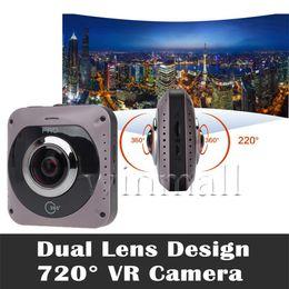 Wholesale Fish Uses - GV720B 360 Camera Dual Fish eye Lens VR Panoramic Camera 220 Degree Wide Angle 1088x2048 px Sport DV