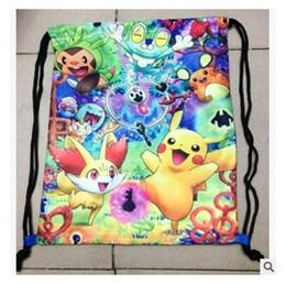 Wholesale Nylon Drawstring Backpacks Kids - Kid Cartoon Drawstring Bag Moana Backpacks Kids Nylon Poke Backpacks Party Gift Bags for Boy Girl Infantil Favors DHL Free Shipping