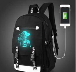Canada Senkey Men Mode Sac à dos avec sacs à dos externes USB chargeur fonction de chargeur de toile Mochila Cartoon Luminous School Noctilucent Sacs Offre