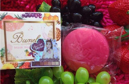 Wholesale Mask Body - Bumebime Handwork Whitening Soap with Fruit Essential Natural Mask White Bright Oil Soap DHL