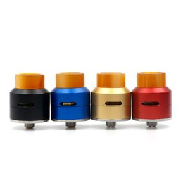 Wholesale Bridge Aluminum - Newest 528 GOON LP RDA Aluminum Goon with Four Gold-Plated Bridge Clamps Peek Insulator 24mm Diameter Fit 510 E Cigarette DHL Free
