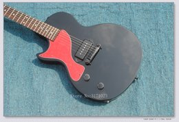 Wholesale Electric Guitars Matt Black - Custom Matt Black Junior Left Handed Electric Guitar Wholesale OEM From China