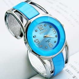 Wholesale Digital Watch Colour - 04Bracelet watch Ladies fashion watch many style of colours Children watch