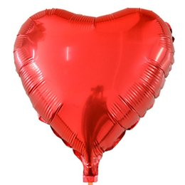 Wholesale Monochrome Dresses - 45x45cm heart-shaped aluminum balloon ball love monochrome balloon wedding dress wedding room layout balloon special