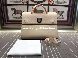 Wholesale Handbag Three Colors - New brand designer the imported head calfskin genuine leather three colors top A quality luxury women casual tote shoulder handbag C0356