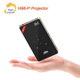 Wholesale Dlp Projector Wifi - H96-P Android wifi projector 3D 2G 16G S905 HDMI Mini Portable pocket projector DLP proyector Home theater projector 4K All in one 32G SD