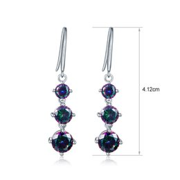 Wholesale Red Teardrop Earrings - Wholsale Fashion Jewelry Women Solid 925 Sterling Silver Multicolored Fire Mystic Topaz Drop Earrings Teardrops Dangler Excellect Quality