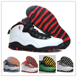 Wholesale Red Light Taxi - High Quality 10s Basketball Shoes Men Women 10s Flu Game French Blue 10s The Master Gym Red Taxi Playoffs Shoes With Box