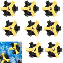 Wholesale Fast Stud - Wholesale- 14Pcs Lot TPR Golf Shoe Spikes Replacement Champ Cleat Fast Twist Screw Studs Stinger Golf Training Accessories