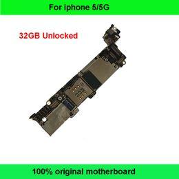 Wholesale Iphone Motherboard Logic Board - 32GB Good Working Original Unlocked Mainboard For iPhone 5 5G Motherboard for iPhone5 Logic Board IOS System Clean iCloud