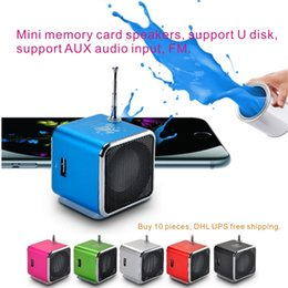Wholesale Speaker Memory - Mini Memory Card Speakers, Support U Disk, Support AUX Audio Input, FM Radio Function Random gift + 4GTF memory card.