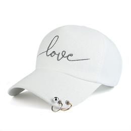 Wholesale Baseball Cap Metal Fashion - 2017 New Hot Sale Women Adjustable Embroidered Baseball Cap Fashion Leisure Outdoor Hat Cap Brim With Metal Buckle 4 Colors Free Shipping