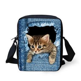 Wholesale Girls Shoulder Bag For School - Cute Cat Dog Printed Children School Bags For Girls Boys,Animal Cartoon Bookbags Small Crossbody Bag for Student Kids Shoulder Bag Mochila