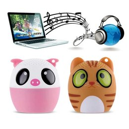 Wholesale Mini Wireless Bluetooth Speaker Cute Animal Cartoon Pig Dog Bear Pet Panda Pocket Silicone Remote Selfi self timer Special Gift BM6