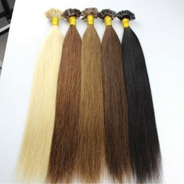 Wholesale Cheap Light Strands - Tangle free wholesale cheap Brazilian virgin remy U tip human hair extensions 0.8g strand 200 strands lot #1#2#4#6#60#613 colors available