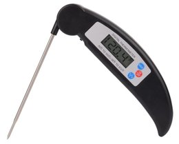 Wholesale Multi Grill - YS103 sn012B PT301 Folding Kitchen Cooking Food Meat Probe Digital Thermometer Electronic BBQ Gas Oven Thermometer Cooking grill thermometer