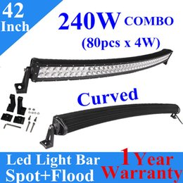"""led work lamp bar prices - 42"""" 240W Curved Spot Flood Led Work Light bar Combo Off-road Driving Lamp Led Working Light for Car Jeep Truck Boat Tractor Trailer Marine"""