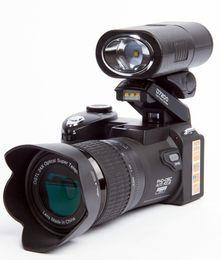 Wholesale Digital Camera Slr - 2017 PROTAX D7300 digital cameras 33MP Professional DSLR cameras 24X Optical Zoom Telephotos& 8X Wide Angle Lens LED Spotlight Tripod