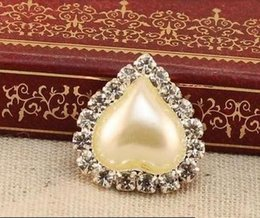 Wholesale Heart Pearl Flatback - Free Shipping 100pcs 22*23mm Heart Pearl Rhinestone Button Flatback, Wedding DIY Crystal Buckles