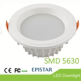 Wholesale High Ra - High-end Epistar SMD5630 or COB 12W 20W 30W LED downlight RA>80 die-casting LED downlight showroom LED ceiling lamp warranty for three years