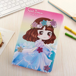 "Wholesale Thin Leather Bumper - Cute Color Print Flip Case for iPad mini 1 2 3 4 ipad 5 6 air 2 Pro9.7""PU Leather Cover Stylish Ultra Thin Kickstand Shockproof Bumper Cover"