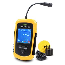 Wholesale Sonar Alarm Fish Finder Lcd - Free Shipping! FFC1108-1 Hot Sale Alarm 100M Portable Sonar LCD Fish Finders Fishing lure Echo Sounder Fishing Finder