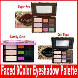 Wholesale Face Popping - New Faced Sugar Pop Eyeshadow Cheek Palette Totally Cute and Cat Eyes 3 style Shadow Palette Blush face Cosmestics Makeup