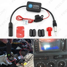 Wholesale Signal Amp - Car Automobile Antenna Arial Radio AM FM Signal Booster Amplifier AMP #4598