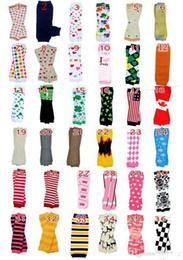 Wholesale Warm Christmas Socks - New Baby Christmas Legging Warmer CHEVRON ZIG ZAG Leggings Leggies Skull Leg Warmer Socks adult arm warmers 320colors for choose 24Pair Lot