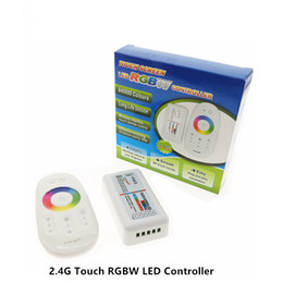 Wholesale Remote Control For Strip Light - 2.4G RGBW LED Controller 4 Channels 24A DC12-24V Touch Screen Remote Control for 5050 SMD RGBW LED Strip Light