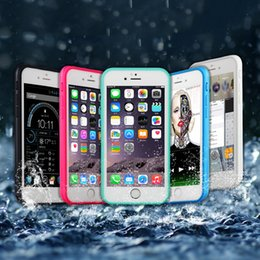 Wholesale Gel Sealing - 100% Sealed Waterproof Cases Water Resistant Full Body Screen Protector Soft TPU Gel Front & Back Case For iPhone 5 6 6s 7 plus