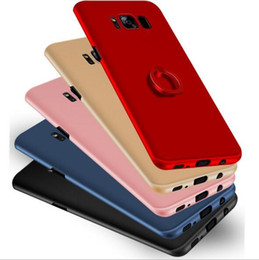 Wholesale Pc Cases Manufacturers - Manufacturers direct Samsung S8 mobile phone shell Galaxy s8plus ring bracket, frosted shell, PC ultra-thin protective cover